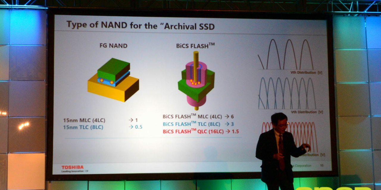 FMS 2015: Toshiba Announces QLC (4-bit MLC) 3D Archival Flash