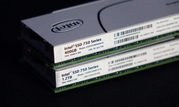 Intel SSD 750 Series 800GB SKU Appears!