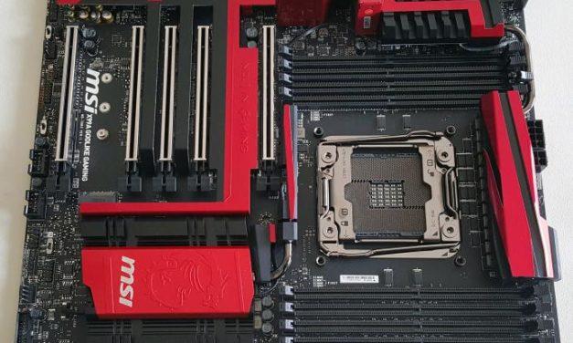 The humble MSI X99A GODLIKE Gaming motherboard