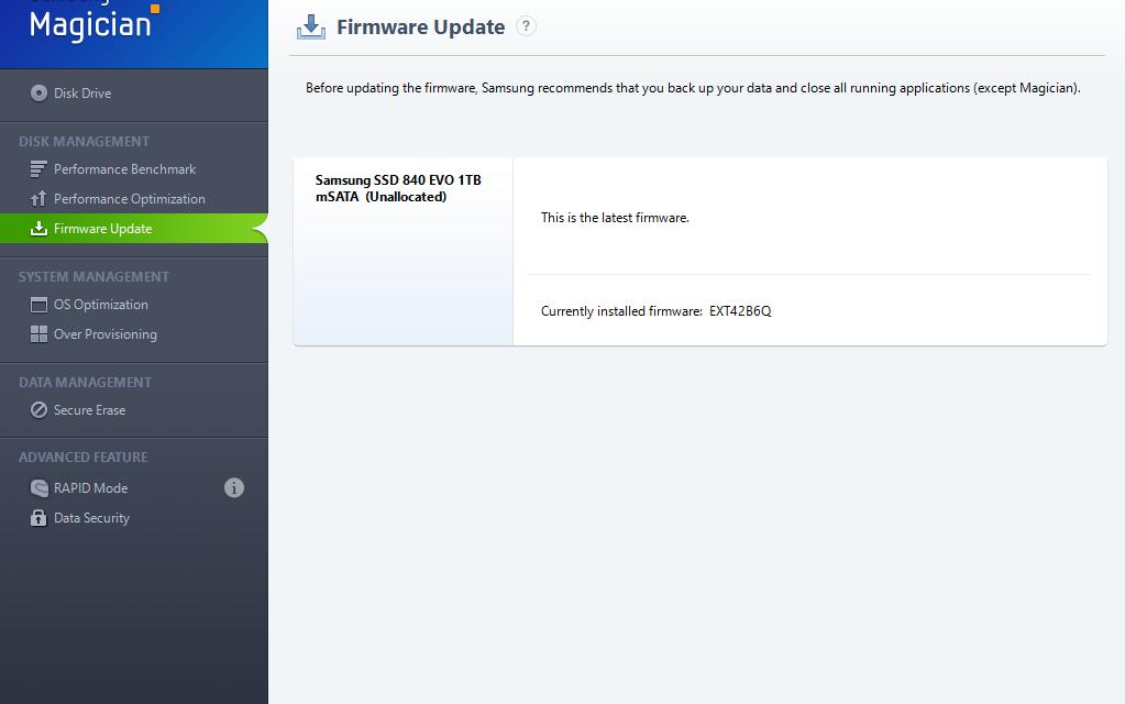 Samsung 840 EVO mSATA Gets Long Awaited EXT43B6Q Firmware, Fixes Read Speed Issue