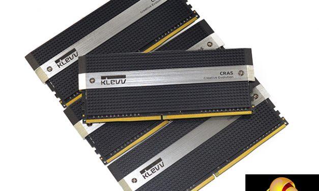 New kit on the block; the KLEVV Cras DD4-3200MHz 16GB kit