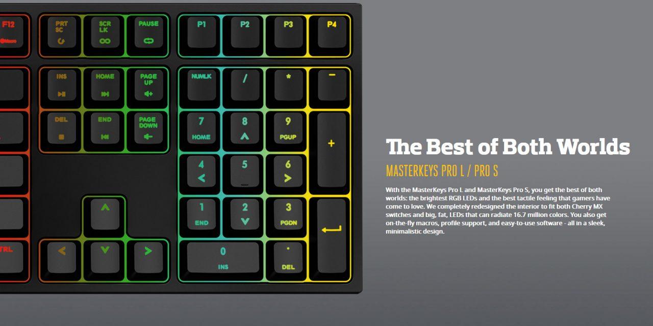 CES 2016: New Cooler Master Mechanical Keyboards