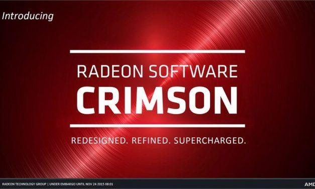AMD Radeon Software Crimson Edition 16.1 Hotfix arrives