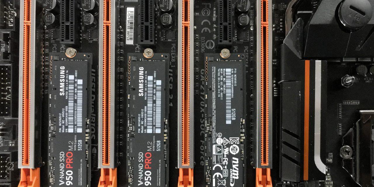 Triple M.2 Samsung 950 Pro Z170 PCIe NVMe RAID Tested – Why So Snappy?