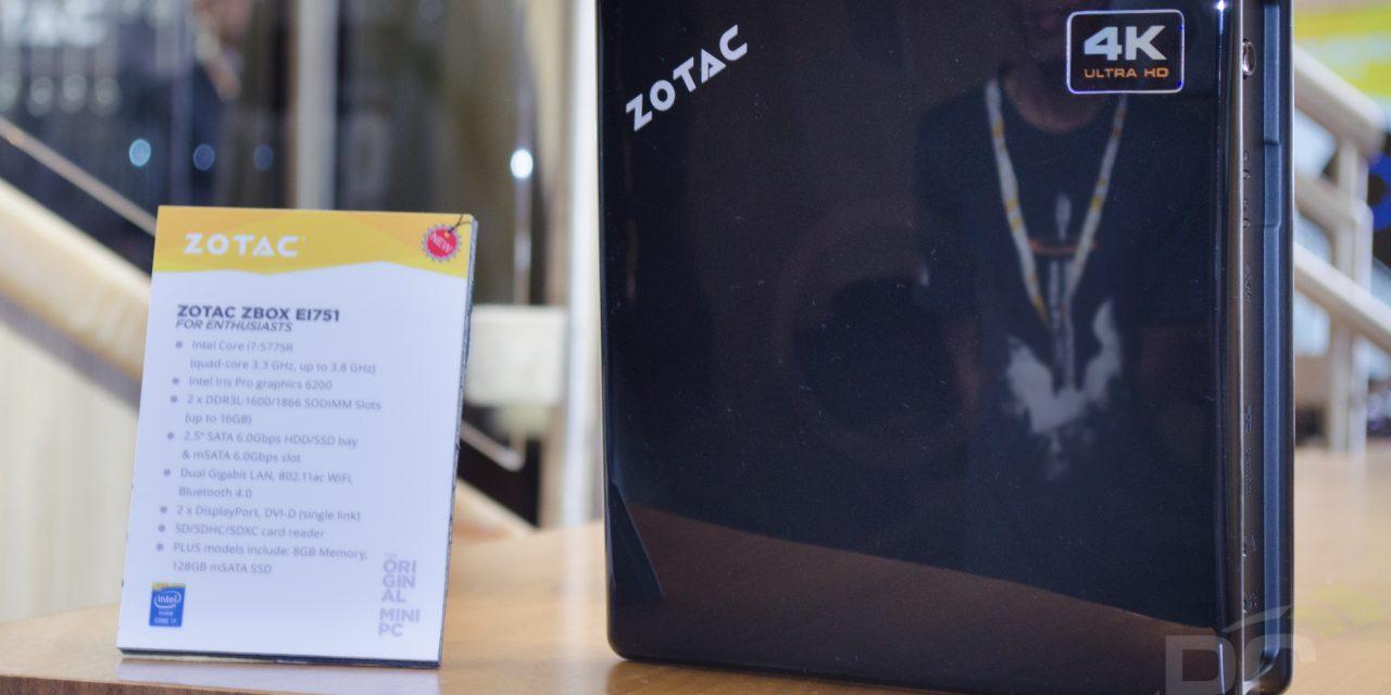 CES 2016: Zotac ZBOX E1751 SFF PC with Intel Core i7, Iris Pro