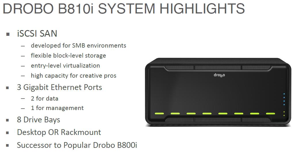 Drobo Launches B810i 8-Bay Dual iSCSI SAN