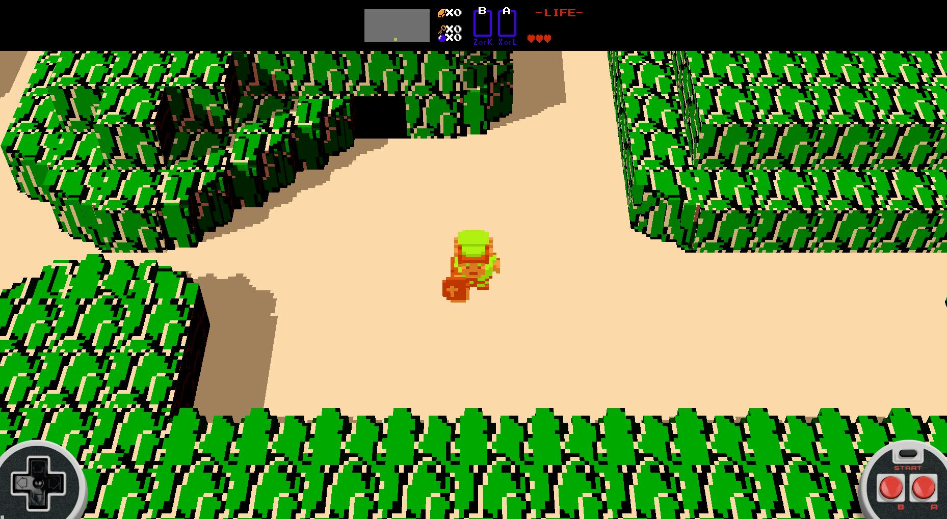 Legend of Zelda in WebGL Voxels