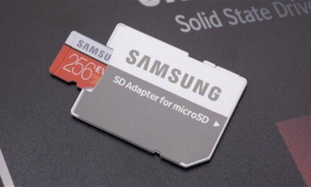 Samsung's 256GB Samsung EVO Plus MicroSD card, for your 4K recording pleasure