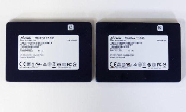 Micron 5100 MAX 960GB and ECO 1920GB Enterprise SSD Review – Speedy SATA