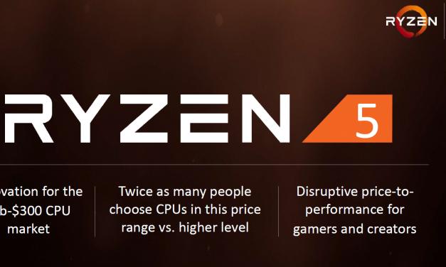 AMD Announces Ryzen 5 Series of CPUs