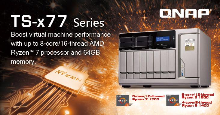 COMPUTEX 2017: QNAP Unveils World's First Ryzen-based NAS
