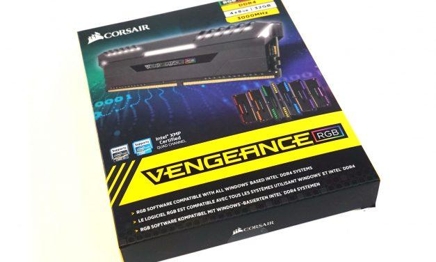 Quick Look: Corsair Vengeance RGB DDR4-3000 Memory Kit