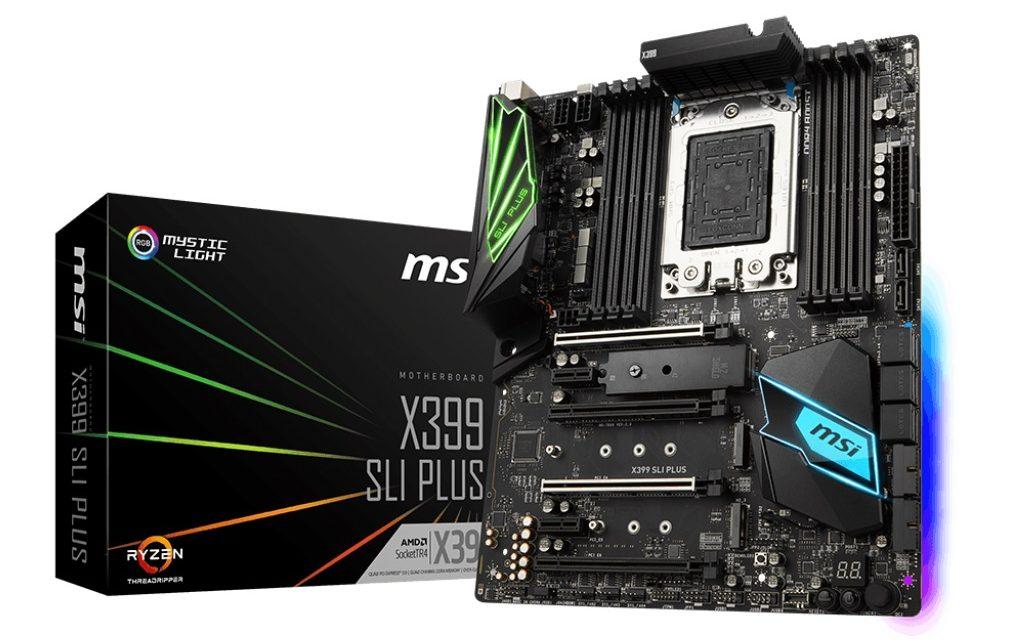 MSI Announces X399 SLI PLUS Motherboard for AMD Threadripper