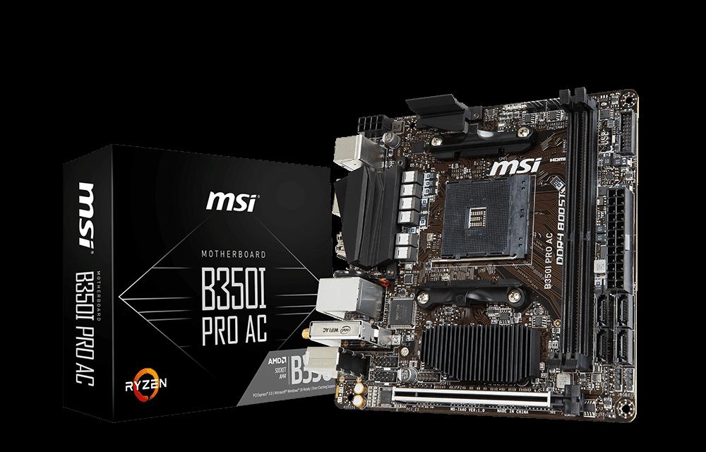Meet MSI's new Mini-ITX B350I PRO AC for tiny Ryzen