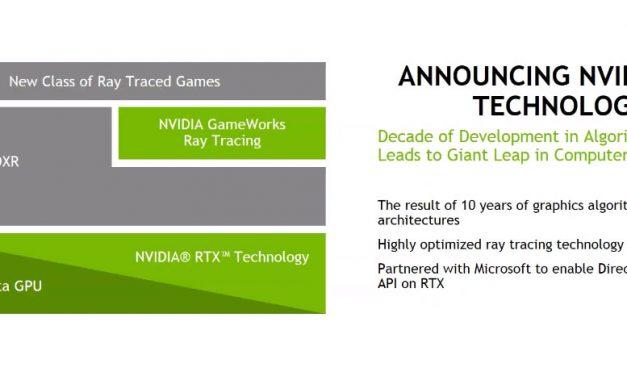 NVIDIA RTX Technology Accelerates Ray Tracing for Microsoft DirectX Raytracing API