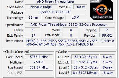 6GHz across 32 cores, ThreadRipping mayhem