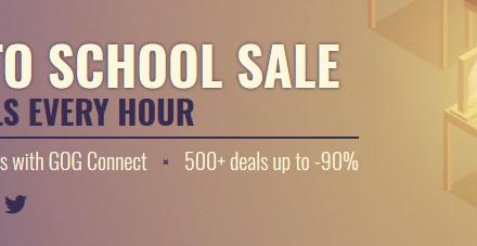 GOG Back-to-School Sale 2018 Begins!
