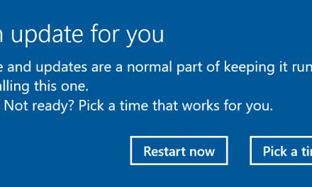 Windows 10 Caveat Emptor Update