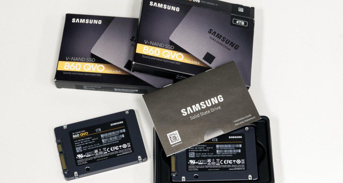 Samsung 860 QVO 1TB and 4TB SATA SSD Review – Samsung Goes QLC