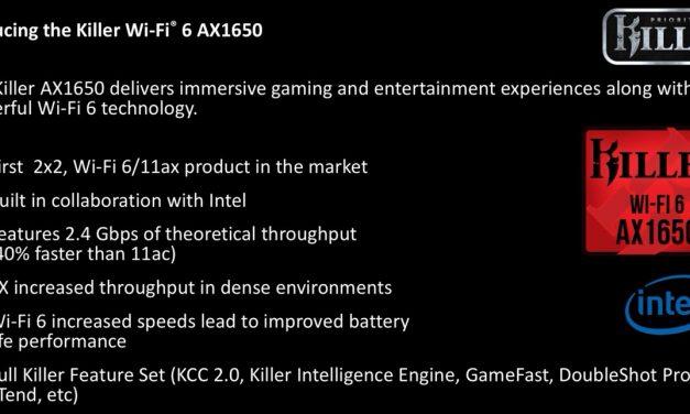 Rivet Networks Announces the 2×2 Wi-Fi 6 Killer AX1650