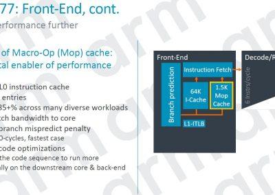 ARM Cortex A77 Front End Cont