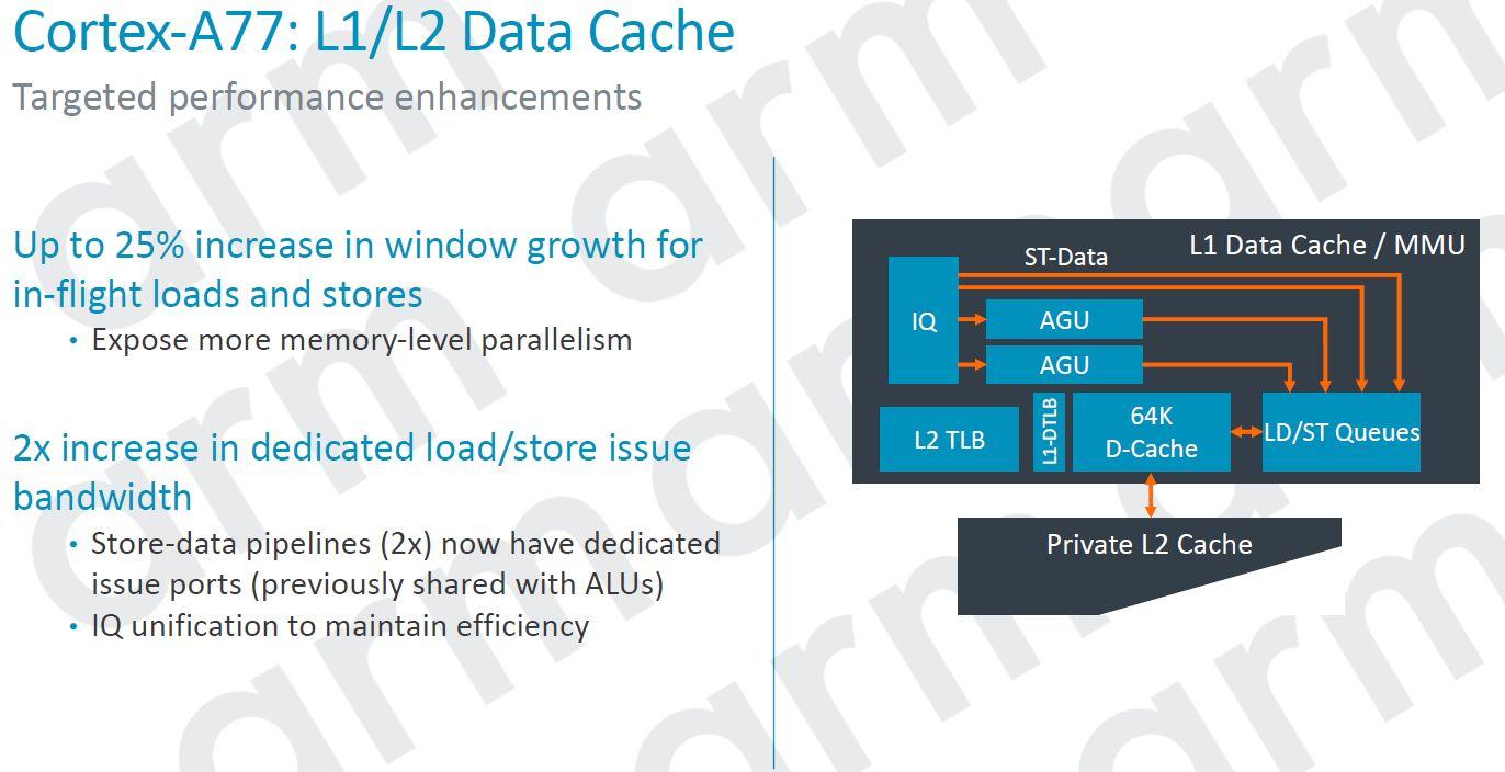 ARM Cortex A77 L1 L2 Data Cache