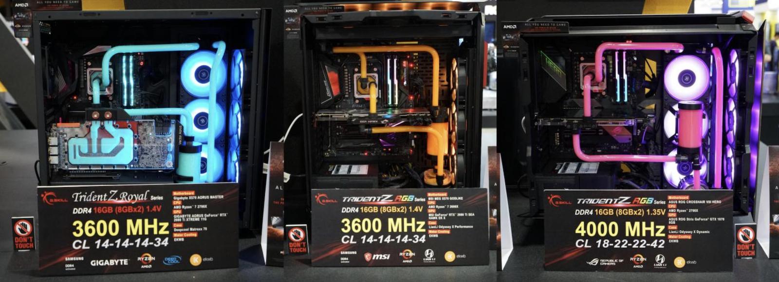 G.SKILL Showcases Extreme DDR4 at Computex - Memory 2