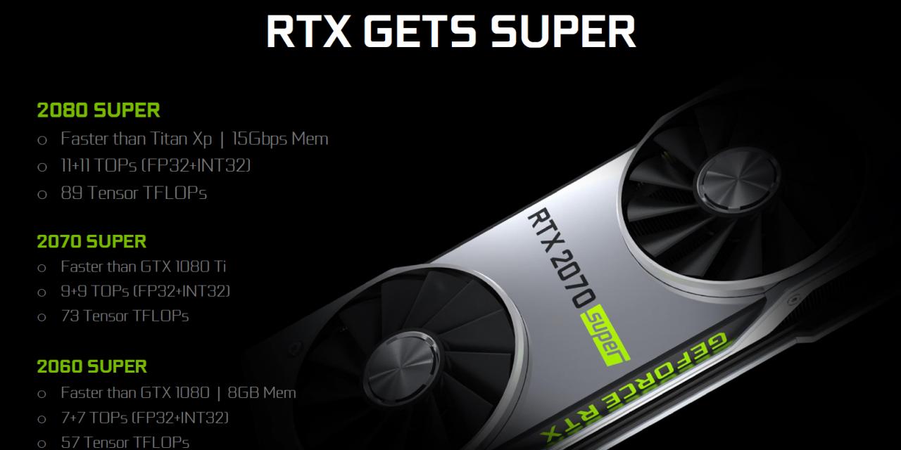 NVIDIA's RTX 2080 Super