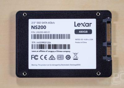 Lexar SSD NS200 Back