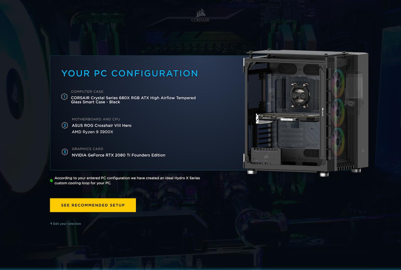 CORSAIR Hydro X Configurator 6