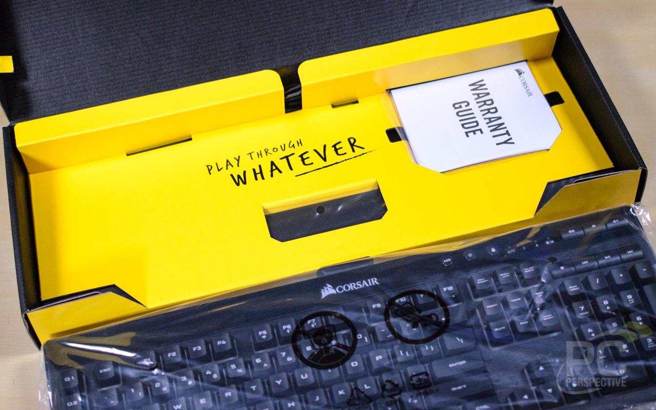 CORSAIR K57 RGB Wireless Keyboard Packaging