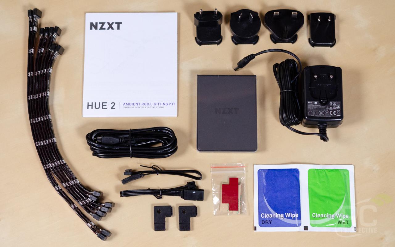 NZXT Hue 2 RGB Ambient V2 Contents