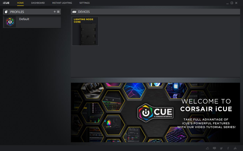 CORSAIR iCUE 465X RGB Software 1