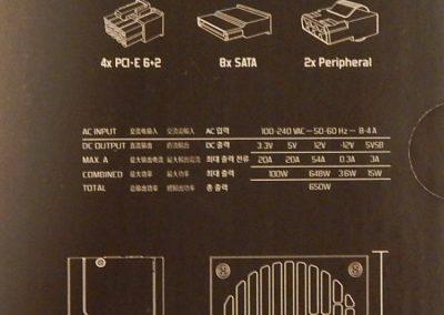 9 Fractal Ion SFX 650G Box