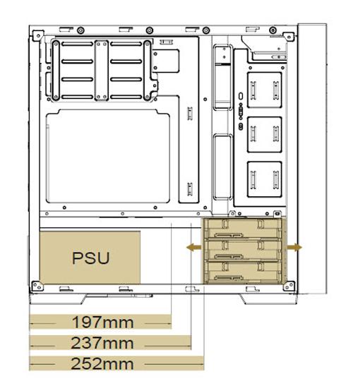 SilverStone RL08 HDD Bays