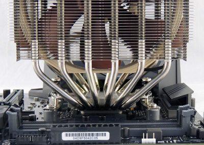 TUFGamingX570Plus-board-noctua-cooler-front-closeup