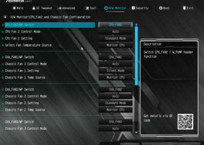 ASRock X570M Pro4 UEFI Default Fan Profiles