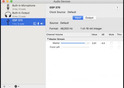 GSP 370 MacOS Input Properties