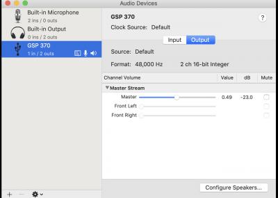 GSP 370 MacOS Output Properties