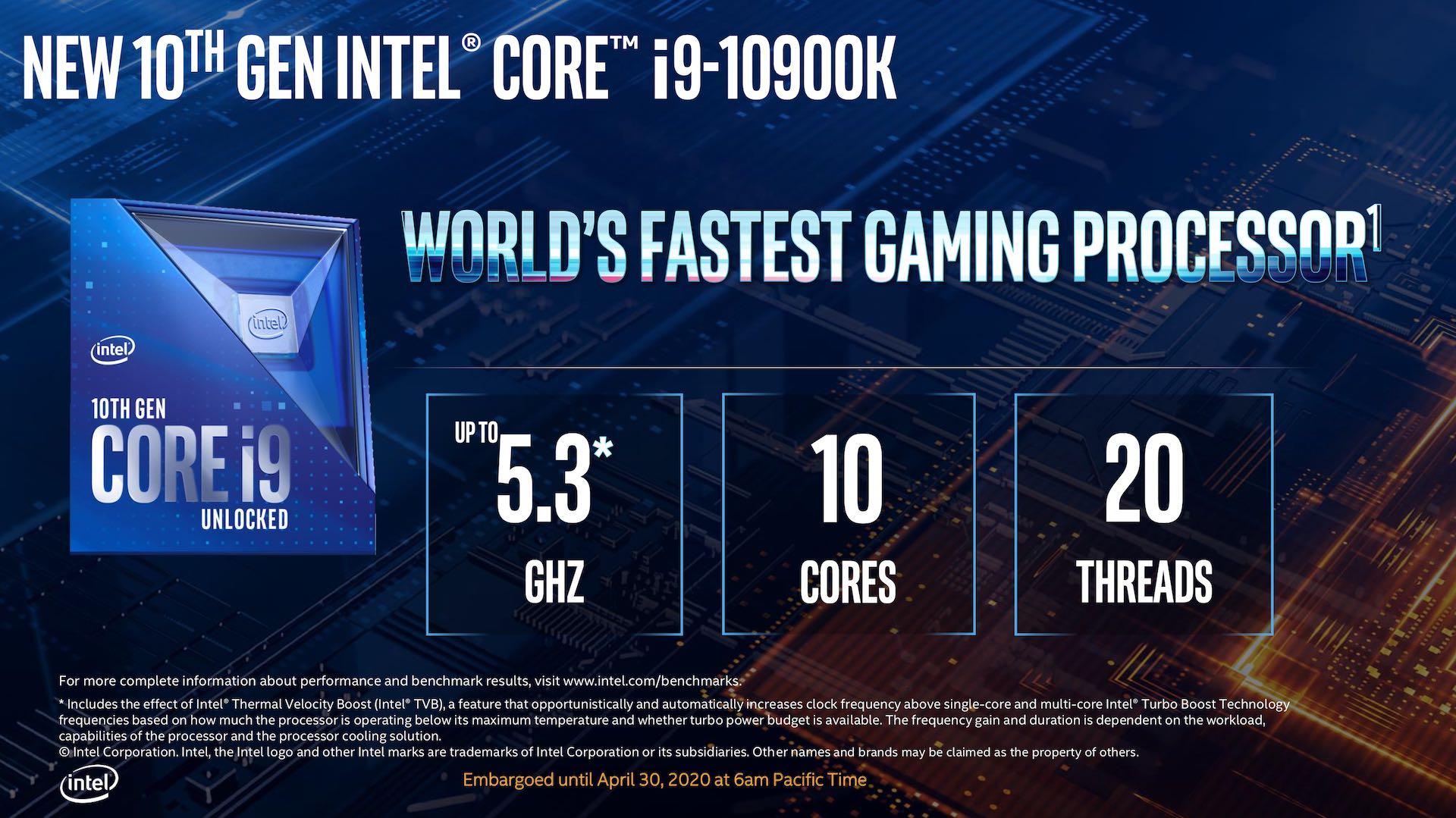 Intel Announces 10th Gen Core Desktop Processor Lineup - Processors  3