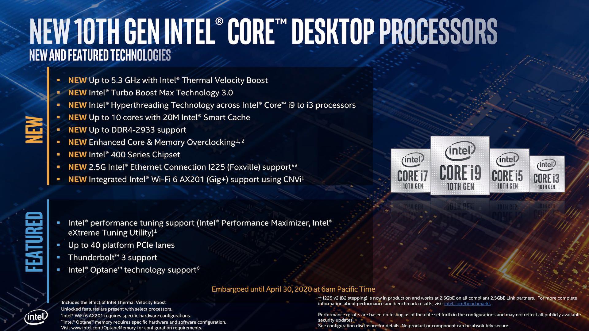 Intel 10th Gen Core i9-10900K and i5-10600K Review - Processors  3