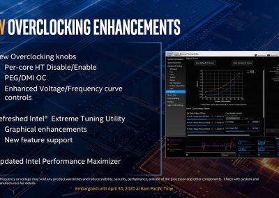 Intel 10th Gen Core Processors OC Slide