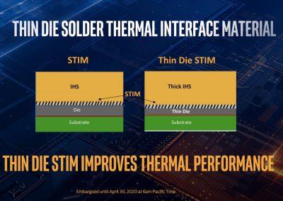 Intel 10th Gen Core Processors TIM Slide