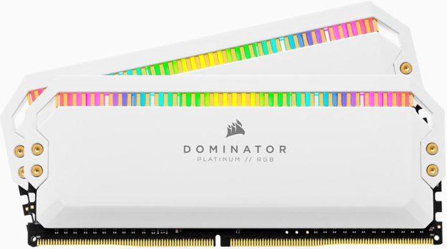 Corsair Dominator Platinum White RGB; Stylish DDR4-4000