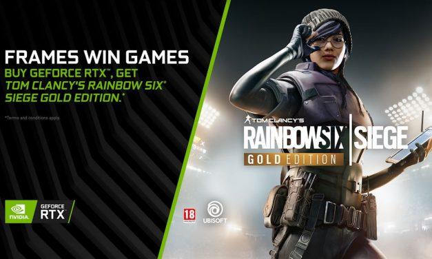 Tom Clancy's Rainbow Six Siege Bundled With GeForce RTX GPUs