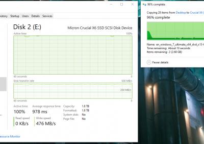 Crucial X6 File Transfer Write Speed