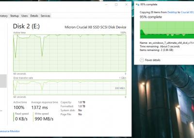 Crucial X8 File Transfer Write Speed