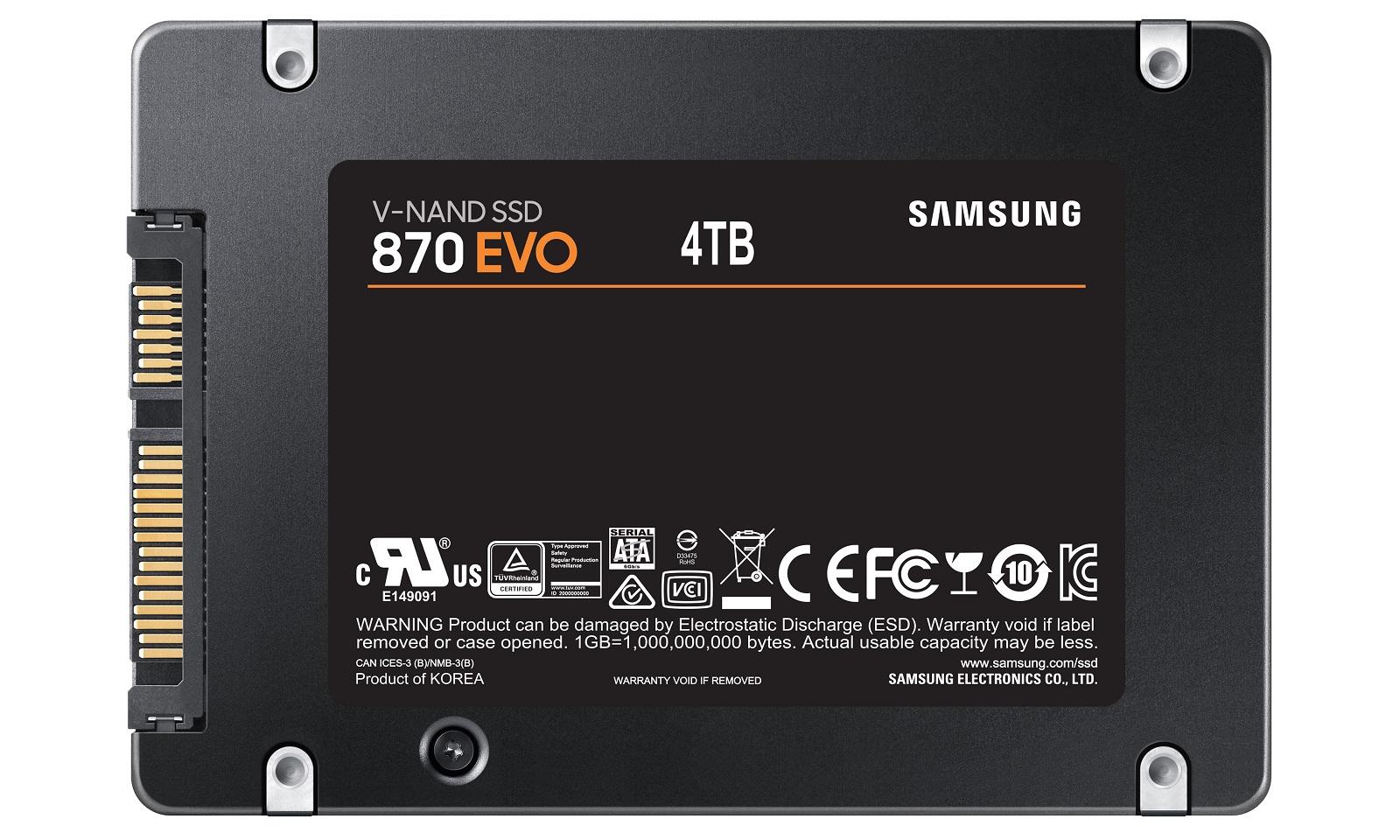 Samsung 870 EVO Drive Back