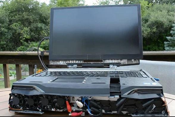 A 180W AMD Threadripper Laptop