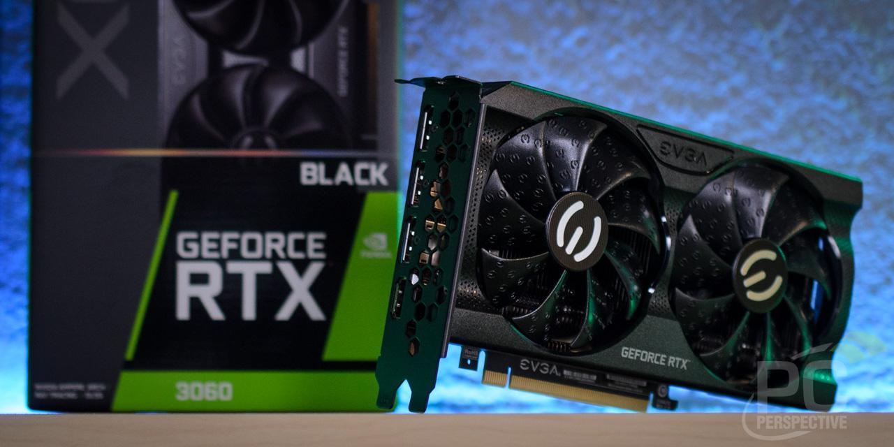 EVGA GeForce RTX 3060 XC BLACK Angle